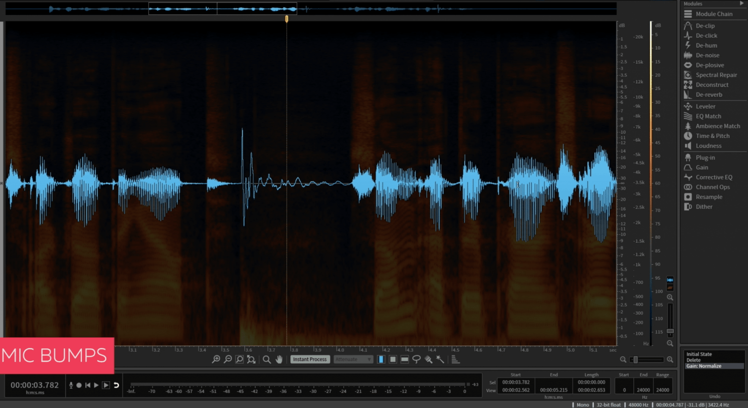 Fixing Mic Bumps in iZotope RX The Easy Way - Cinema Sound