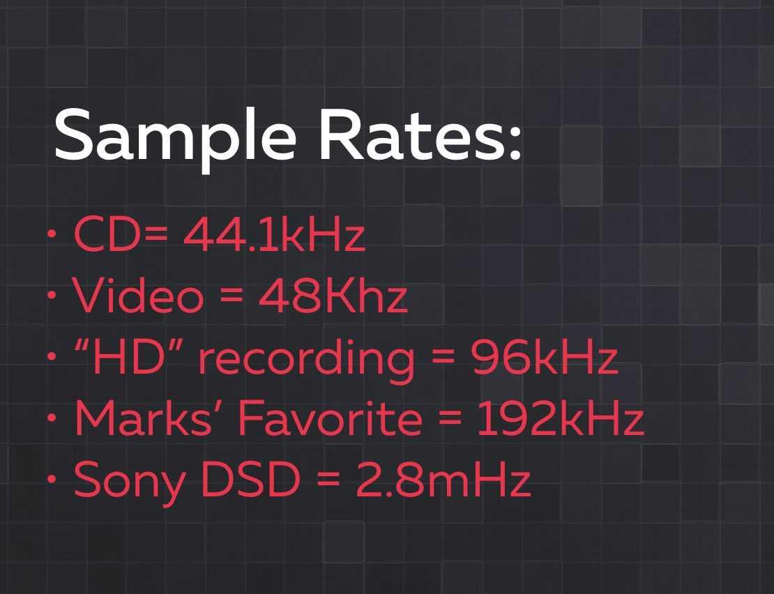 sample rates