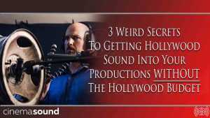 Cinema Sound Webinar Tonight!