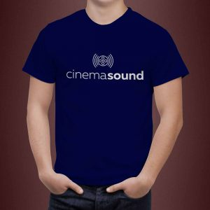 Cinema Sound T-Shirt White Print
