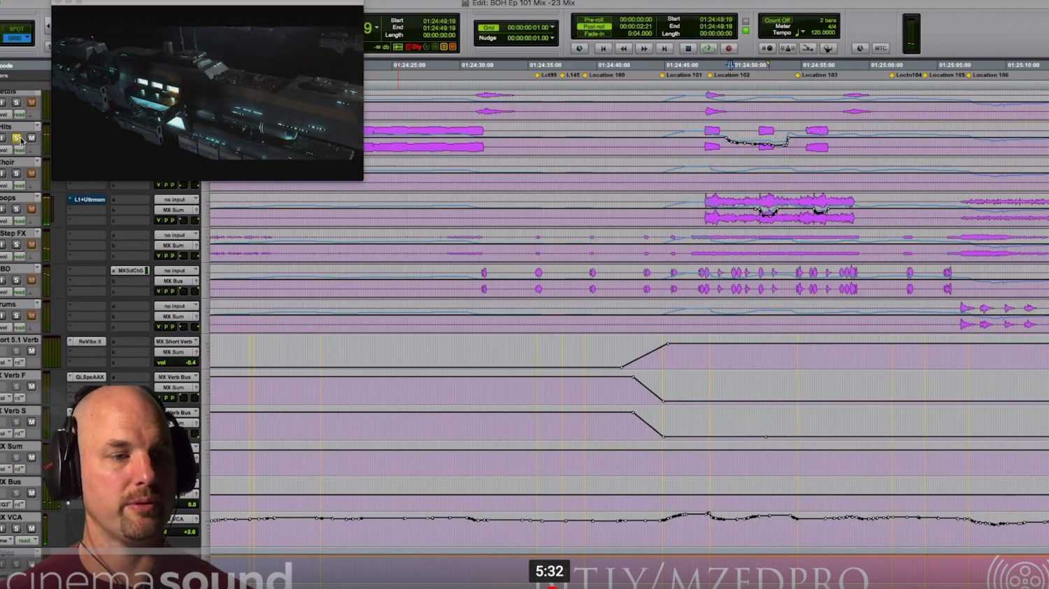 Music Mixing for Picture from 256 Channel Mix of Blade of Honor
