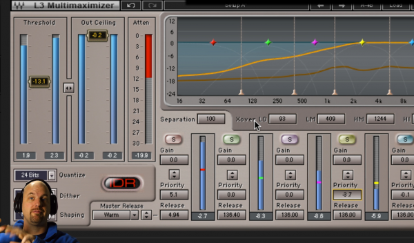Using Waves Audio L3 Multimaximizer for Dialog