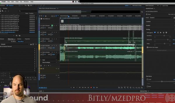 Dialog Auto Ducking in Adobe Audition using the Essential Sound Panel