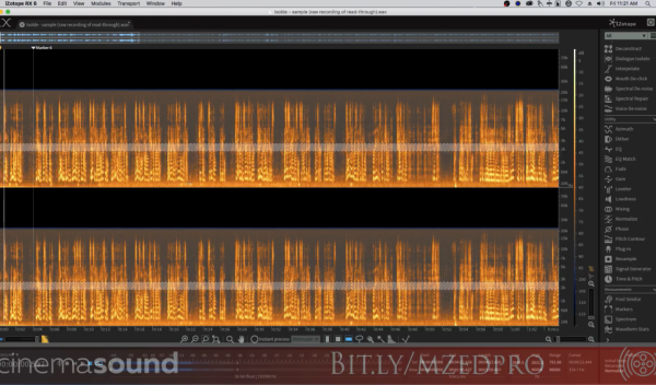 Fixing Live Dialog – Audio Book Fix in iZotope RX 6