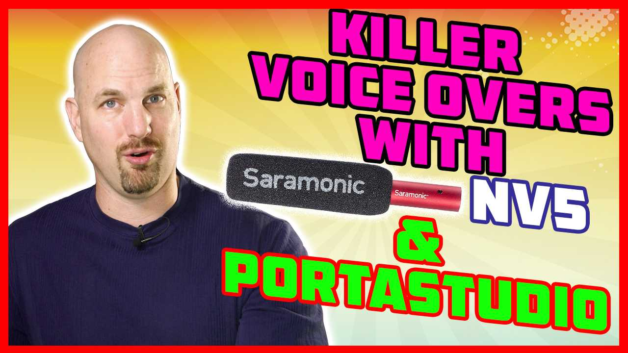 Get Killer Voice Over Recording with Saramonic NV-5 and Porta Studio!