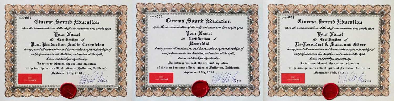 Cinema Sound Certification has Arrived!