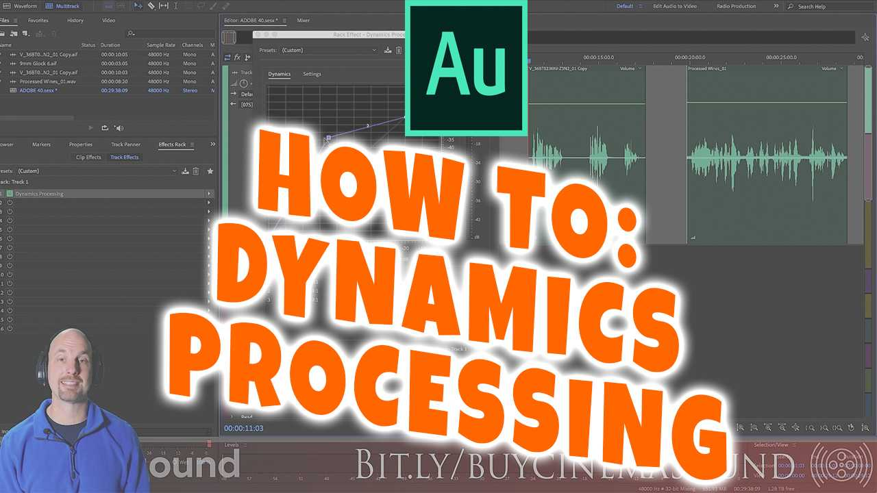 Adobe Audition How To: Dynamics Processing