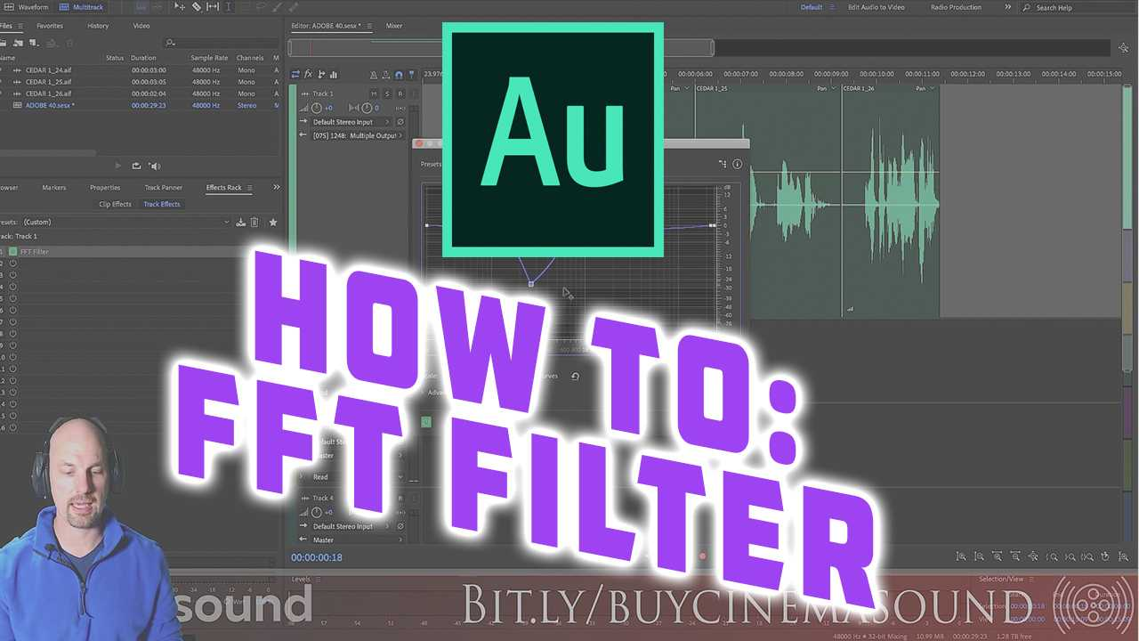 Adobe Audition How To: FFT Filter