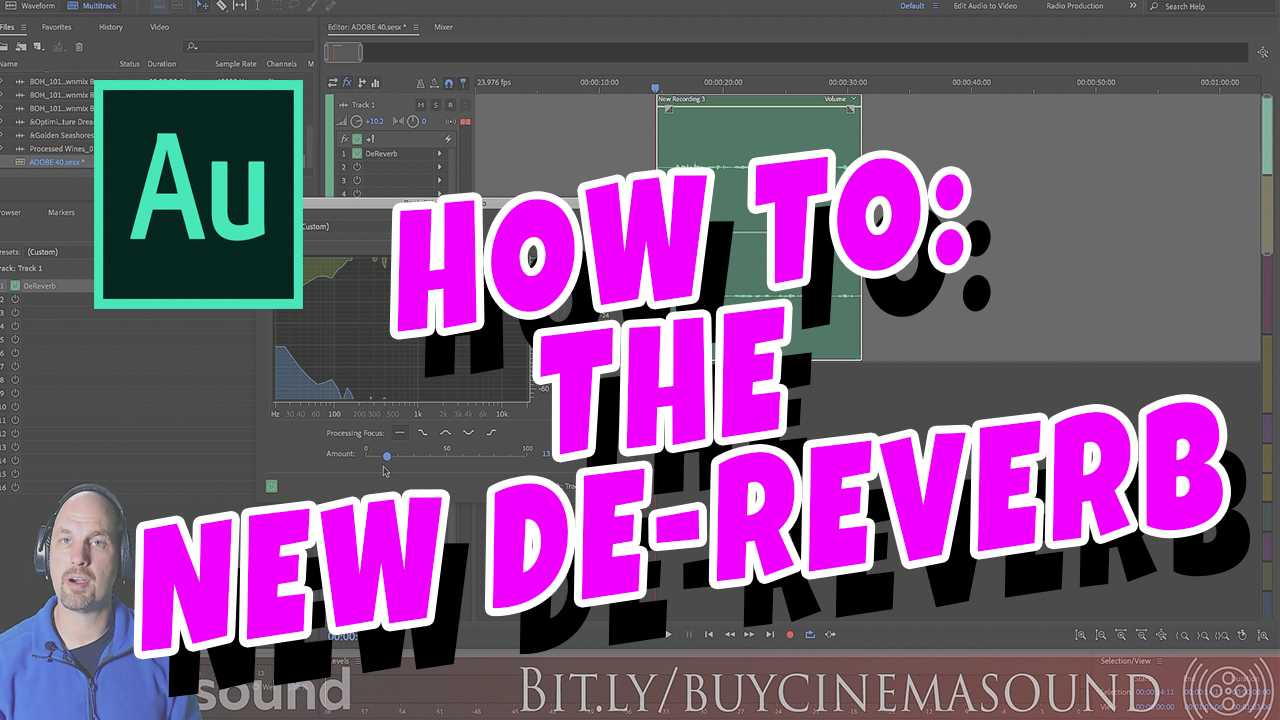 Adobe Audition How To: The New DeReverb!