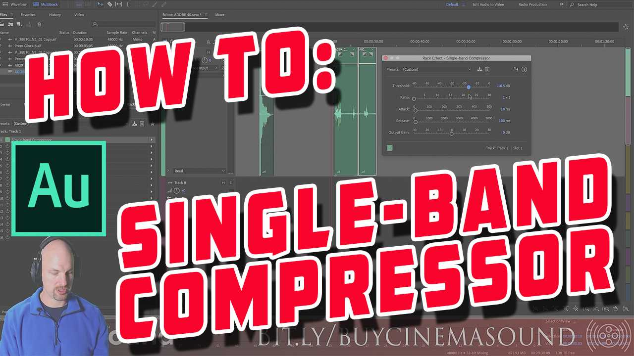 Adobe Audition How To: Single-Band Compressor