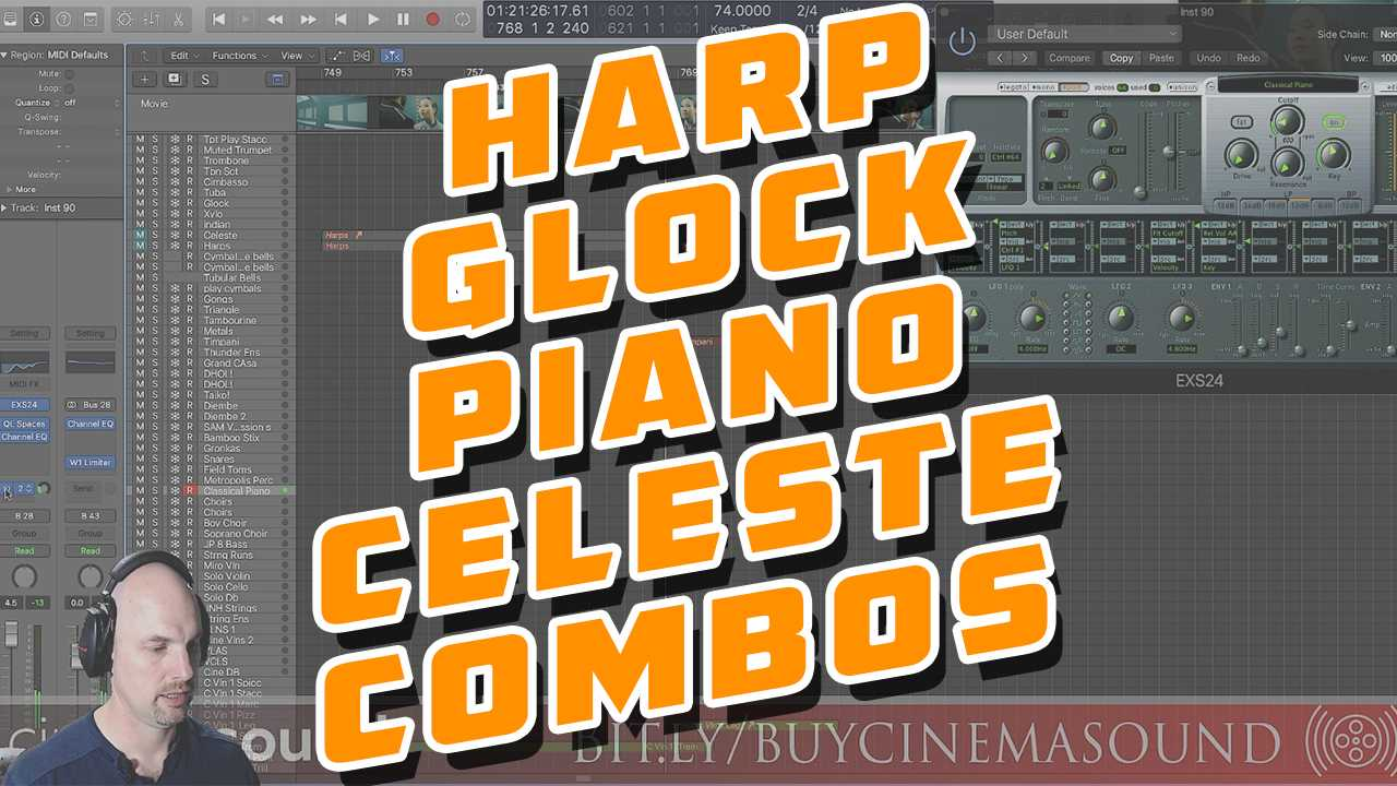 Film Scoring How To: Harp, Glock, Piano, Celeste Combinations