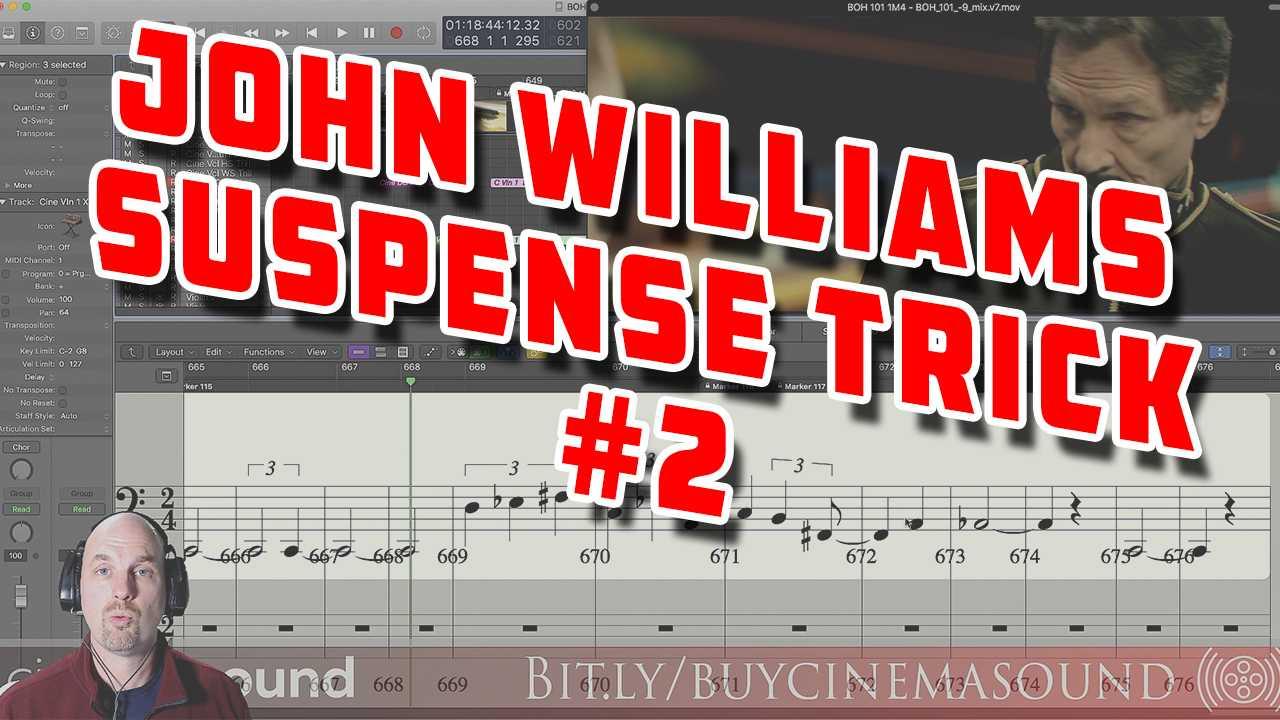 Film Scoring How To: John Williams Suspense Trick #2