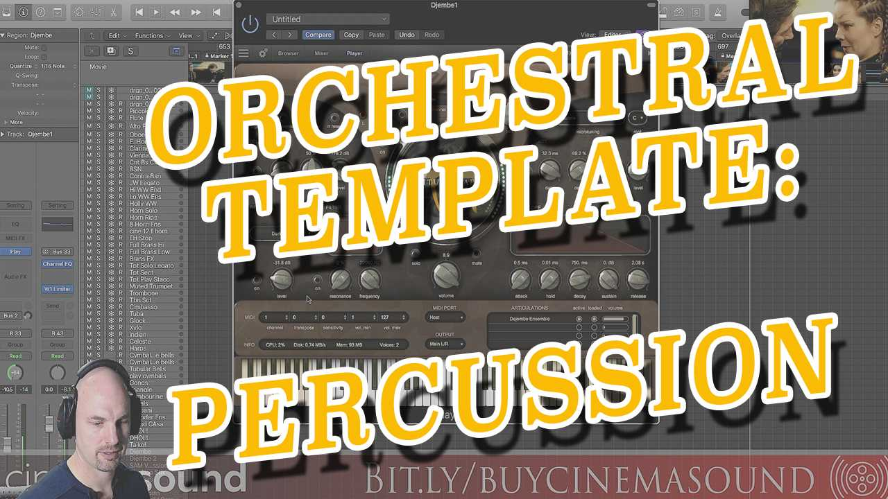 Film Scoring How To: Orchestral Template Percussion