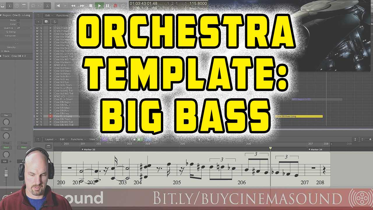 Film Scoring How To: Orchestra Template BIG BASS