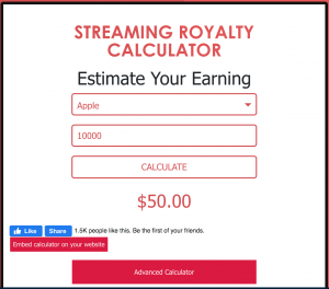 Calculate Your Music Royalty Now!