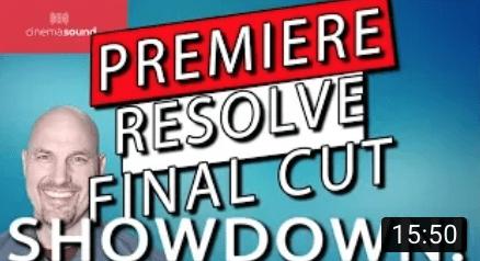Adobe Premiere Pro, Final Cut Pro X and Davinci Resolve SHOWDOWN